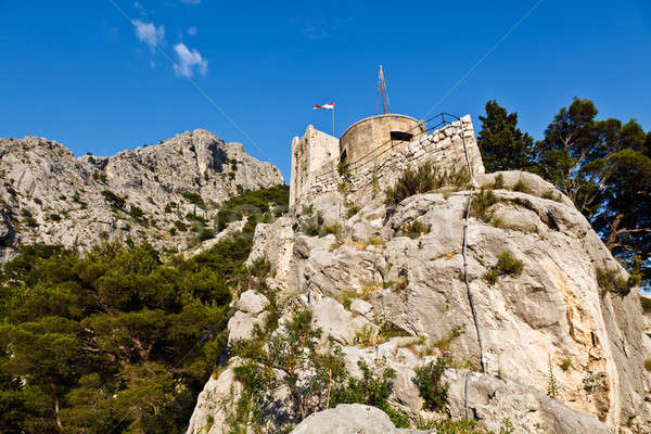 Old Pirate Castle in the Town of Omis, Croatia Stock photo © anshar
