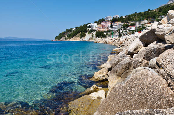 Blue Sea with Transparent Water and Rocky Beach in Croatia Stock photo © anshar