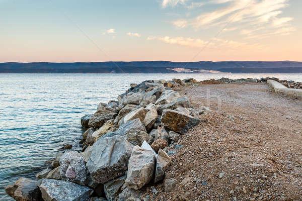 Pôr do sol Croácia céu nuvens natureza paisagem Foto stock © anshar