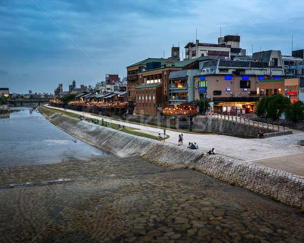 Rivière kyoto Japon ciel eau Photo stock © anshar