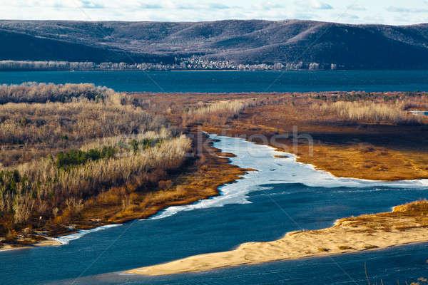 Panoramic View of Volga River Bend near Samara, Russia Stock photo © anshar