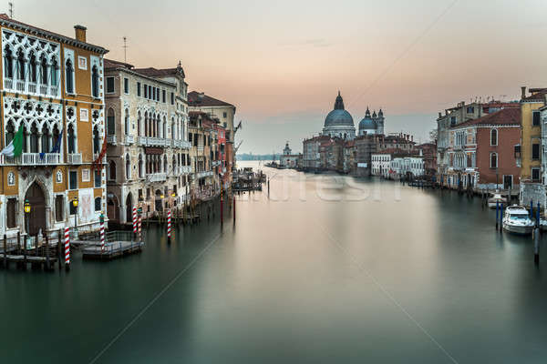 Grand Canal and Santa Maria della Salute Church from Accademia B Stock photo © anshar