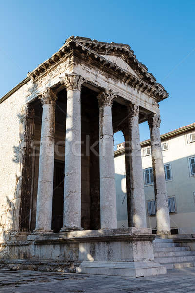 Ancient Roman Temple of Augustus in Pula, Istria, Croatia Stock photo © anshar