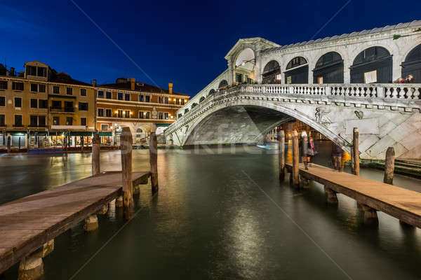 Rialto Bridge and Grand Canal in the Evening, Venice, Italy Stock photo © anshar