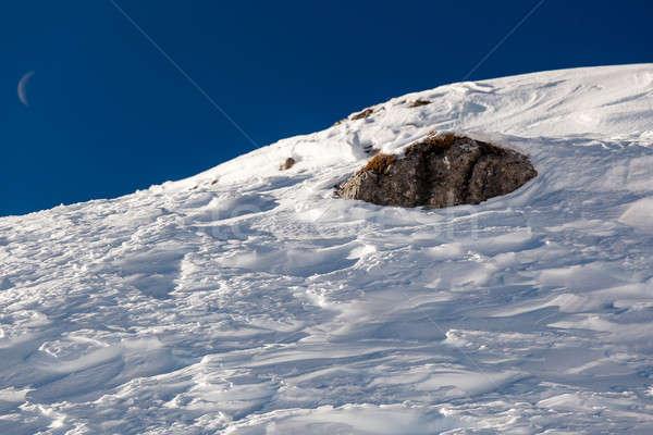 Snow on Peak Vallon at Ski Resort of Corvara, Alta Badia, Dolomi Stock photo © anshar