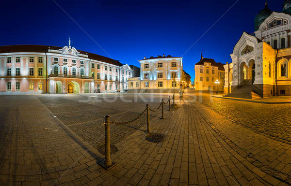 Lossi Plats Square and Alexander Nevski Cathedral in the Evening Stock photo © anshar