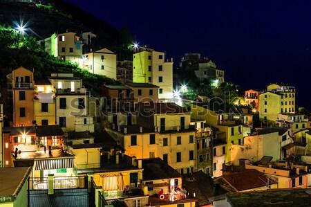 деревне ночь дома дороги Сток-фото © anshar