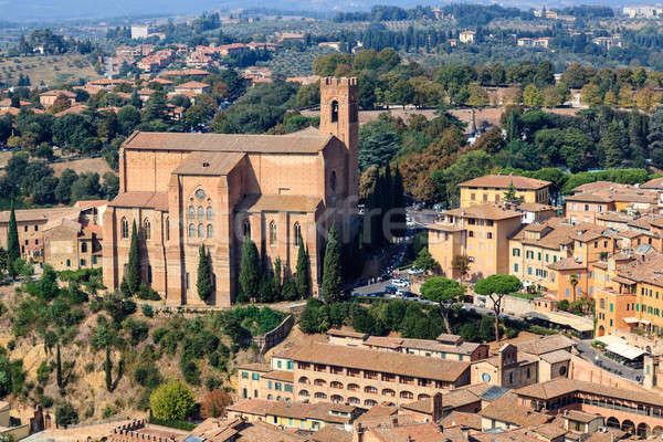 Aerial View on Rooftops and Houses of Siena, Tuscany, Italy Stock photo © anshar