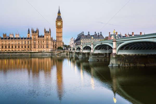 большой Бен королева башни моста утра Сток-фото © anshar