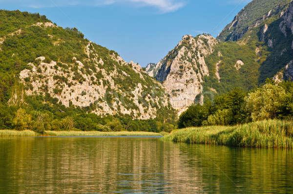 Kanion górskich rzeki Chorwacja wody chmury Zdjęcia stock © anshar