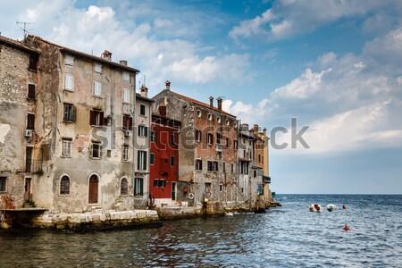 古い 住宅 向い 海 中世 市 ストックフォト © anshar