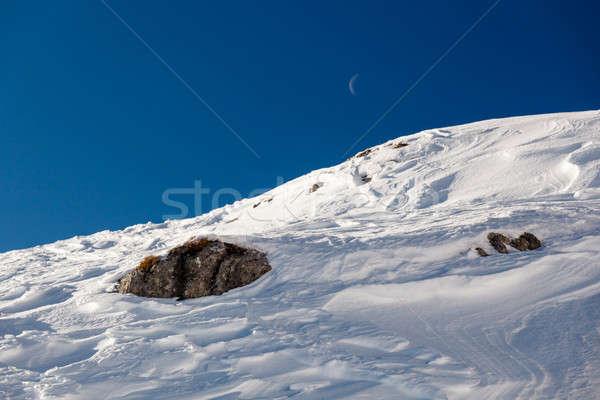 śniegu szczyt narciarskie resort alpy Włochy Zdjęcia stock © anshar