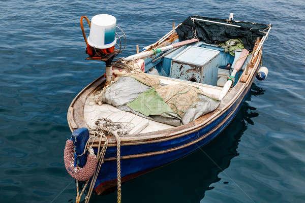 Fisherman Boat Docked at Harbor in Senj, Croatia Stock photo © anshar