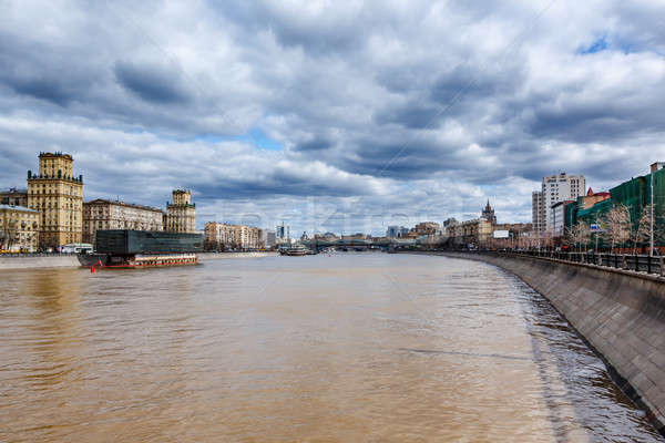 Moscow River Embankment and Khamovniki Cityscape, Moscow, Russia Stock photo © anshar