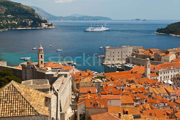 Panorama dubrovnik cidade paredes Croácia paisagem Foto stock © anshar