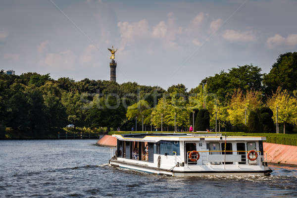 View on Victory Column in Tiergarten Park from Spree River, Berl Stock photo © anshar
