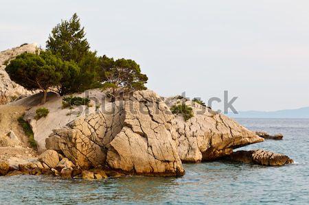 Adriatic Beach in Brela Village, Croatia Stock photo © anshar