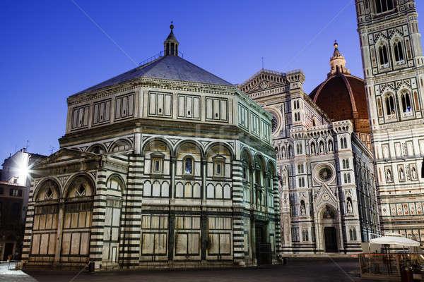 Florence kathedraal basiliek ochtend Toscane Stockfoto © anshar