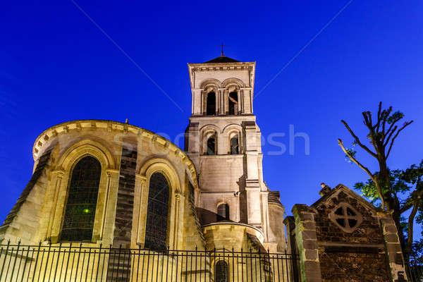 Kerk montmartre heuvel schemering Parijs Stockfoto © anshar