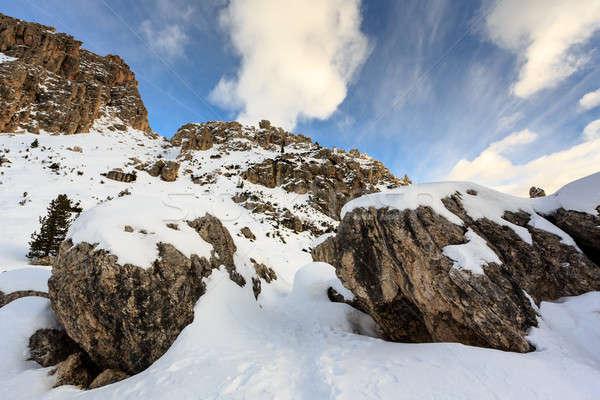 Rocky Mountains on the Skiing Resort of Colfosco, Alta Badia, Do Stock photo © anshar