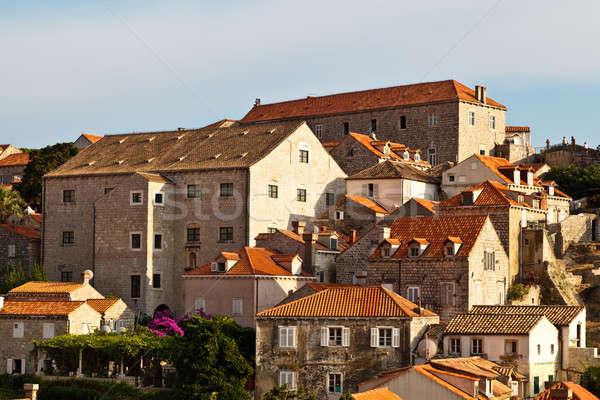 Foto d'archivio: View · dubrovnik · tetti · città · muri · Croazia