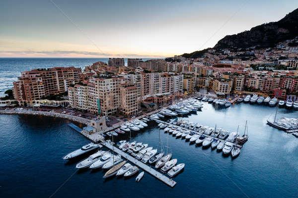 Luchtfoto Monaco haven luxe frans water Stockfoto © anshar