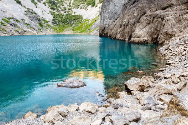 синий озеро известняк кратер Хорватия природы Сток-фото © anshar