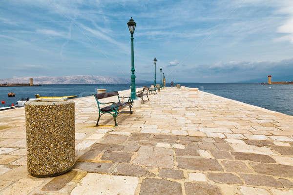 Muelle mediterráneo ciudad Croacia casa nubes Foto stock © anshar