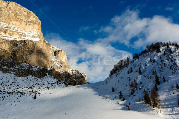 Slope on the Skiing Resort of Colfosco, Alta Badia, Dolomites Al Stock photo © anshar