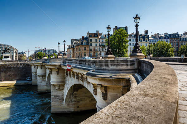 Pont Neuf and Cite Island in Paris, France Stock photo © anshar