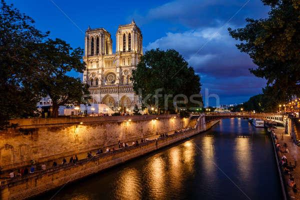 パリ 大聖堂 川 フランス ストックフォト © anshar