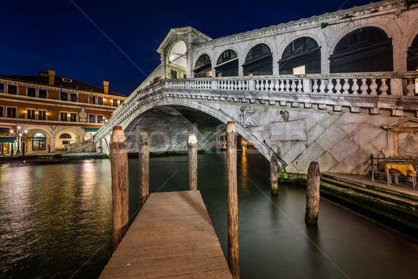 моста канал вечер Венеция Италия домой Сток-фото © anshar