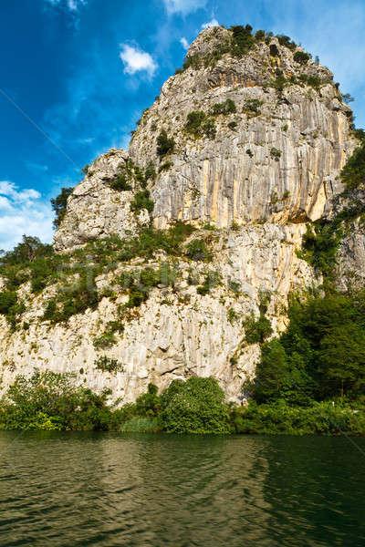 каньон горные реке Хорватия воды облака Сток-фото © anshar