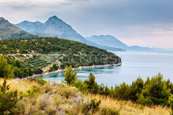 Adriatic Sea and Mountains near Dubrovnik, Dalmatia, Croatia Stock photo © anshar