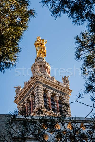 Basilica of Notre-Dame de la Garde in Marseilles, France Stock photo © anshar