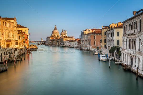 運河 サンタクロース 教会 橋 ヴェネツィア イタリア ストックフォト © anshar