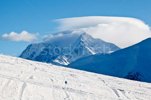 Slope on the Skiing Resort of Megeve in French Alps Stock photo © anshar