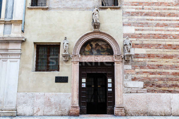 Medieval Doorway with Arch and Mural in Verona, Veneto, Italy Stock photo © anshar