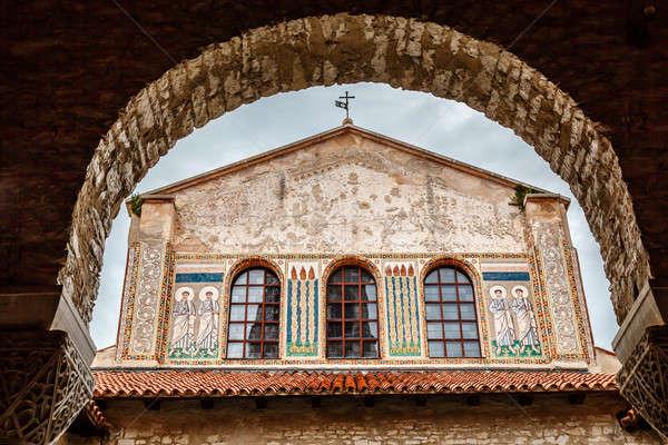 Murals of the Euphrasian Church in Porec, Croatia Stock photo © anshar