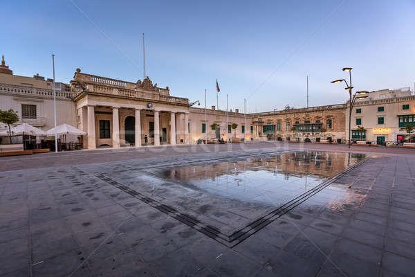 Vierkante republiek straat Malta water Stockfoto © anshar