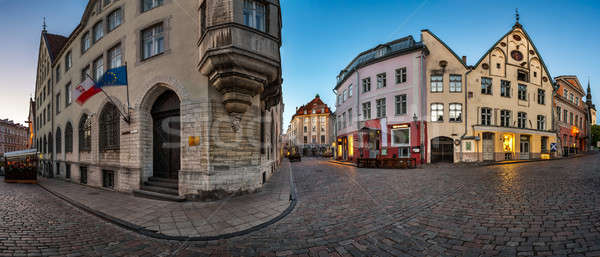 Panorama of Tallinn Old Town in the Morning, Tallinn, Estonia Stock photo © anshar
