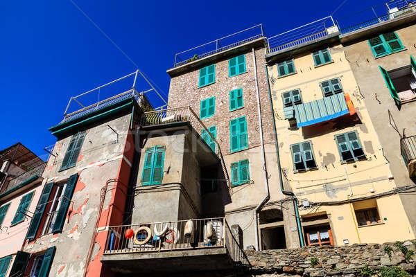 古い 住宅 村 イタリア 水 光 ストックフォト © anshar