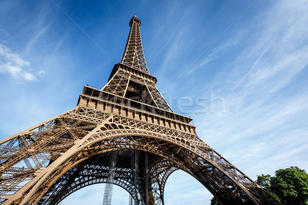 Wide View of Eiffel Tower from the Ground, Paris, France Stock photo © anshar