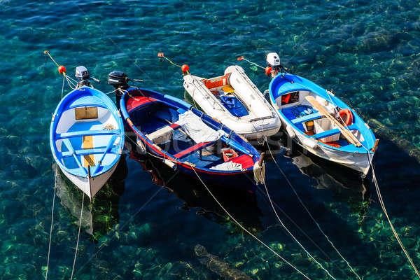 три лодках Италия природы лодка стране Сток-фото © anshar