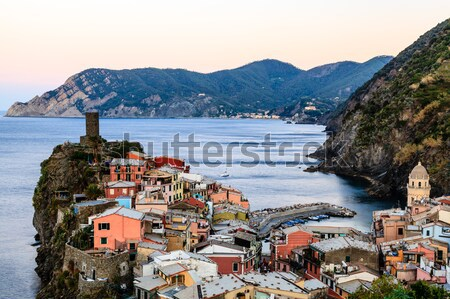 The Medieval Castle in the Village of Vernazza, Cinque Terre, It Stock photo © anshar