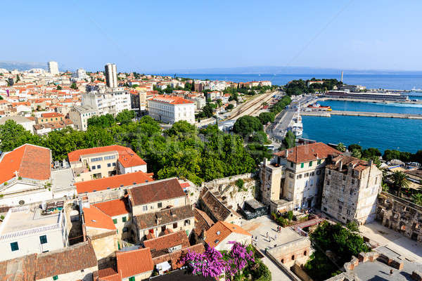 Aerial View on Diocletian Palace and City of Split, Croatia Stock photo © anshar