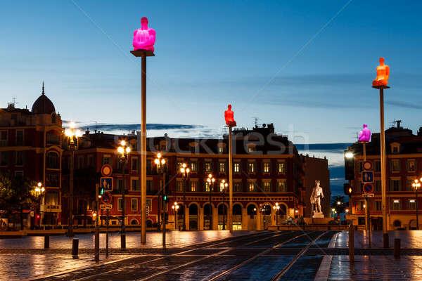 место квадратный утра Nice Франция свет Сток-фото © anshar