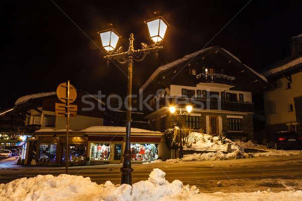 Village of Megeve on Christmas Eve, French Alps, France Stock photo © anshar