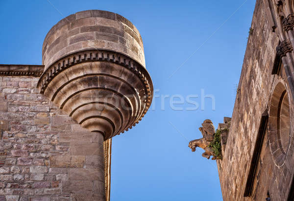 Details View of Reial Major Palace in Barcelona, Catalonia, Spai Stock photo © anshar