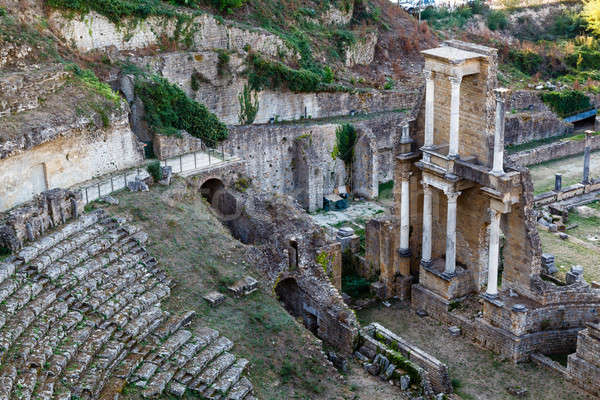 Ancient Roman Theatre of Volterra in Tuscany, Italy Stock photo © anshar